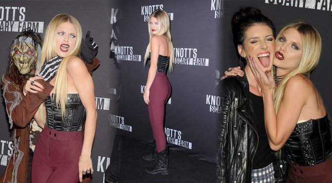 Annalynne McCord – Knott's Scary Farm Opening Night in Buena Park