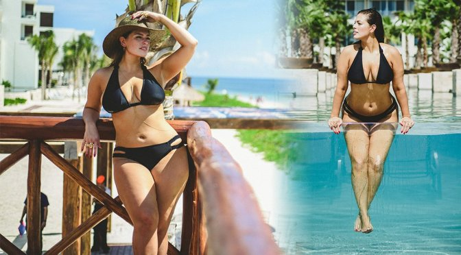 Ashley Graham – Bikini Candids in Cancun