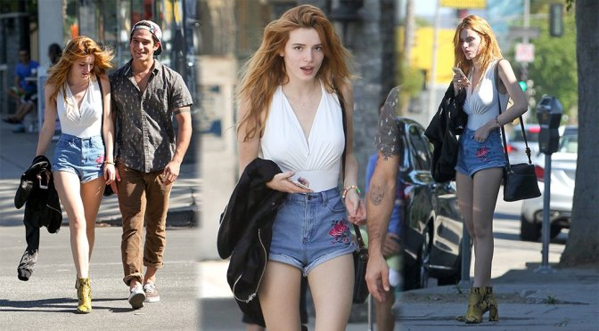 Bella Thorne – Leggy Candids in Sherman Oaks