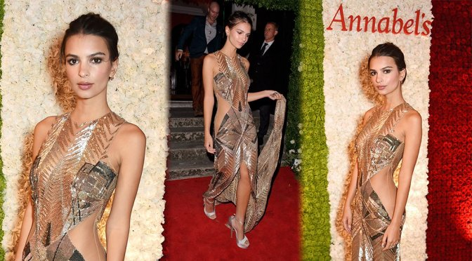 Emily Ratajkowski – Annabel's Private Club Opening in London