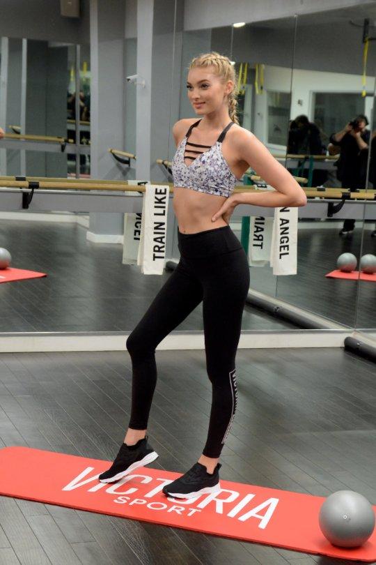 """Elsa Hosk - """"Train Like An Angel"""" Event in New York"""