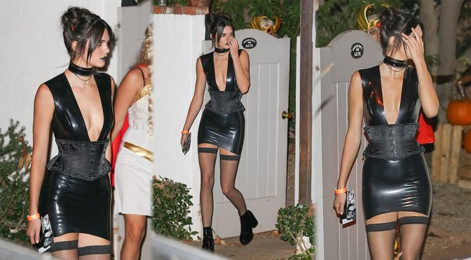 Kendall Jenner – Halloween Party in Hollywood