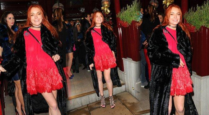 Lindsay Lohan – Braless Candids in London