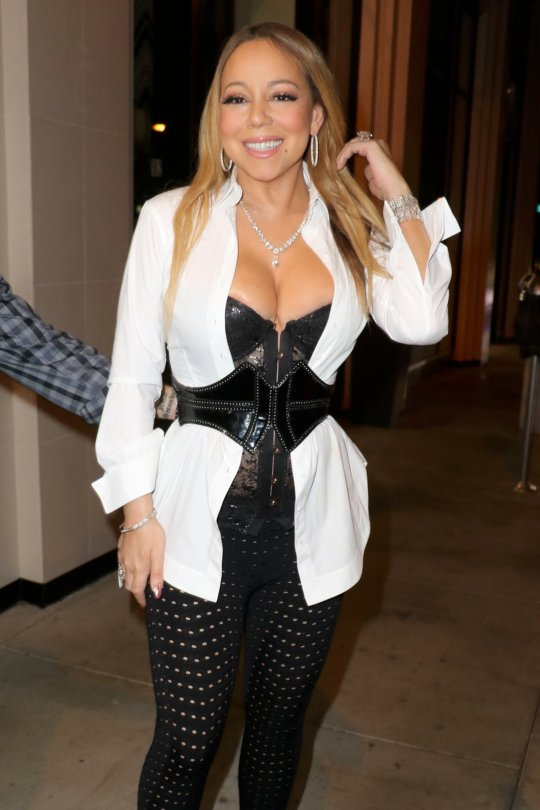Mariah Carey - Cleavage Candids in Hollywood