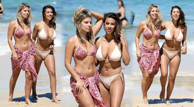 Natasha Oakley & Devin Brugman – Bikini Candids in Sydney