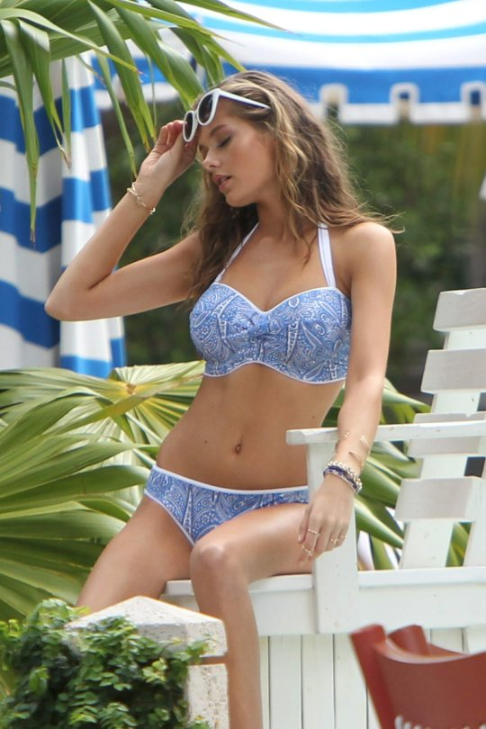 Solveig Mork Hansen - Bikini Photoshoot Candids in Miami Beach