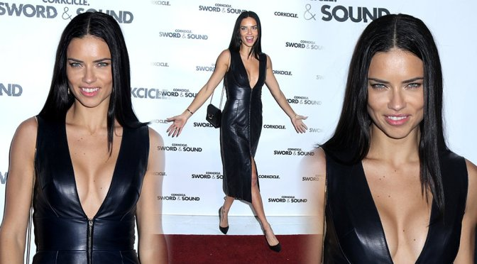 Adriana Lima – Sword & Sound Event in New York