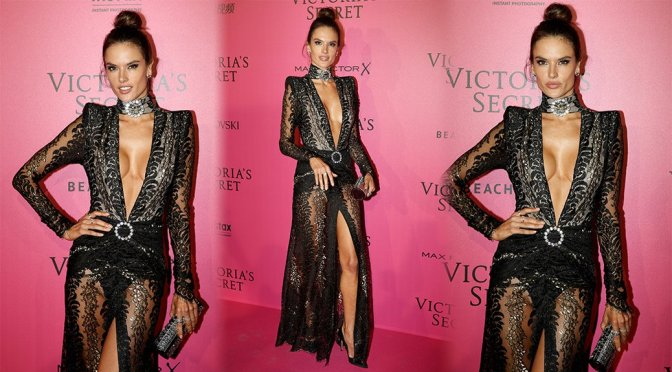 Alessandra Ambrosio – Victoria's Secret Fashion Show After Party in Paris