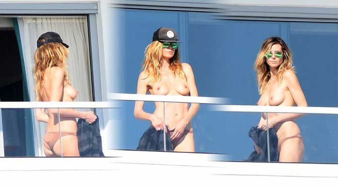 Heidi Klum – Topless Candids in Miami