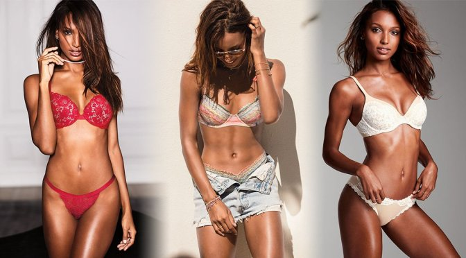 Jasmine Tookes – Victoria's Secret Lingerie Photoshoot