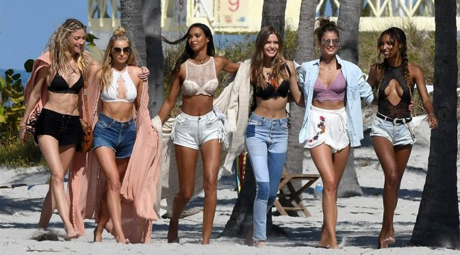 Victoria's Secret Angels – Lingerie Photoshoot Candids in Miami Beach