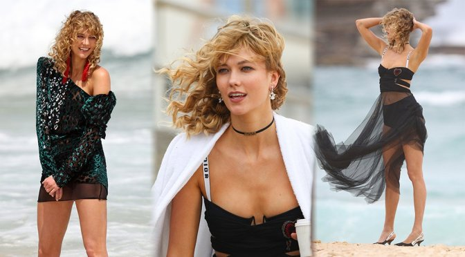 Karlie Kloss – Photoshoot Candids in Sydney