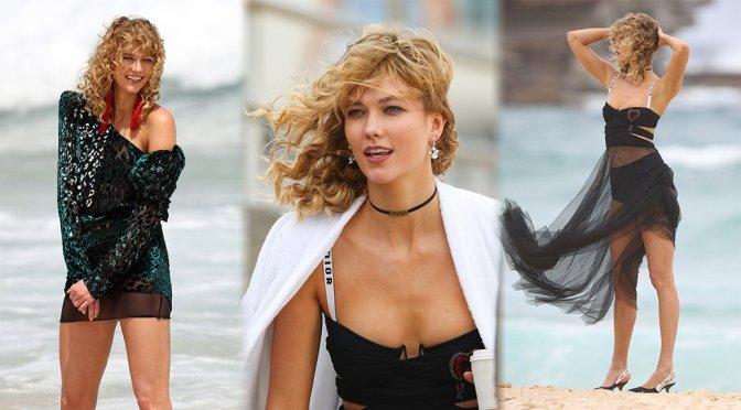 Karlie Kloss – Photoshoot Candids in Sydney