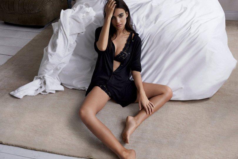 Emily Ratajkowski In DKNY Lingerie