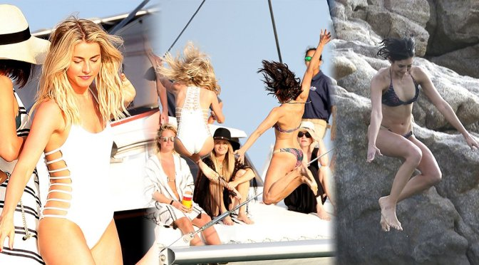 Julianne Hough & Nina Dobrev – Candids in Caribbean