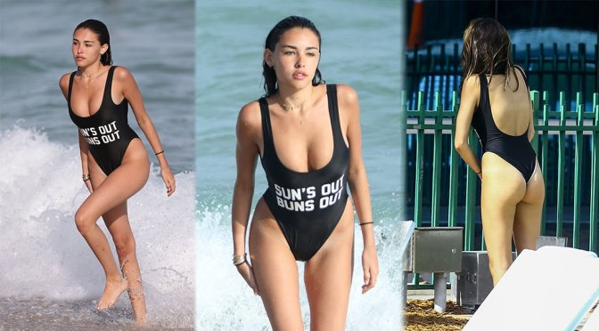 Madison Beer – Swimsuit Candids in Miami
