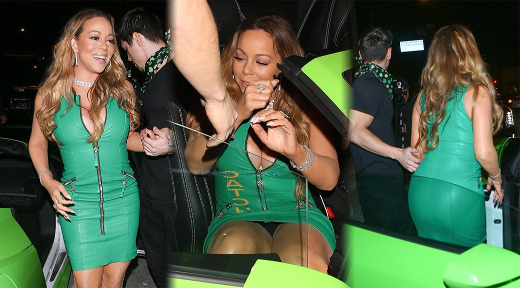 Mariah Carey - Upskirt Candids in Los Angeles