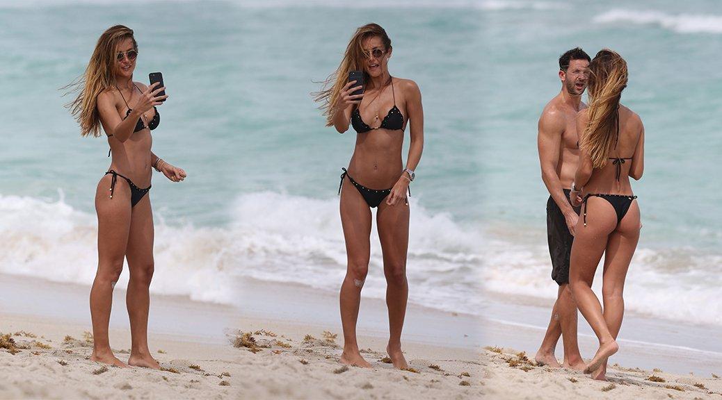 Natalia Borges - Bikini Candids in Miami