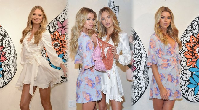 """Romee Strijd & Stella Maxwell – """"Dream Angels"""" Collection Launch in New York"""