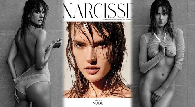 Alessandra Ambrosio sexy and half naked in Narcisse magazine