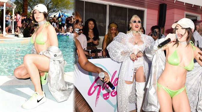 Charli XCX – Galore x Grindr Pool Party at Coachella
