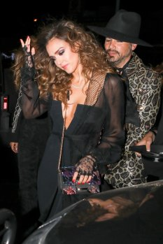 Jessica Alba - sexy cleavage - Leaves Peppermint Club in West Hollywood