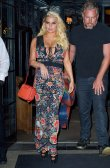 Jessica Simpson show off her big breasts in New York