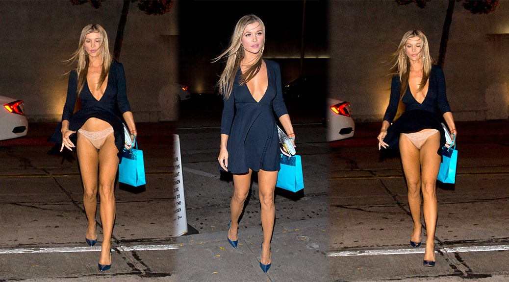 Joanna Krupa - Upskirt Candids in West Hollywood