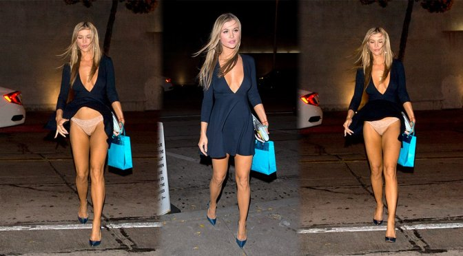 Joanna Krupa – Upskirt Candids in West Hollywood