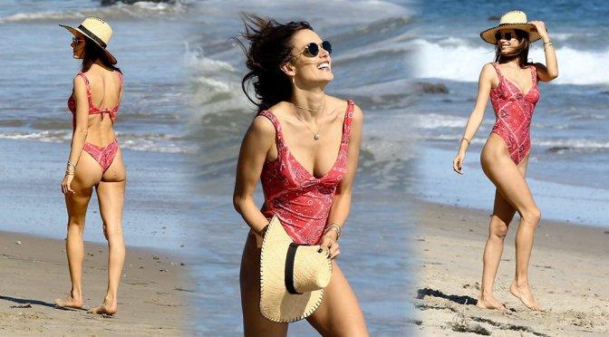 Alessandra Ambrosio – Swimsuit Candids in Malibu