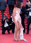 Bella Hadid - Upskirt exposing panties at Opening Ceremony of 70th Cannes Film Festival