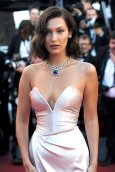 Bella Hadid - sexy cleavage at Opening Ceremony of 70th Cannes Film Festival