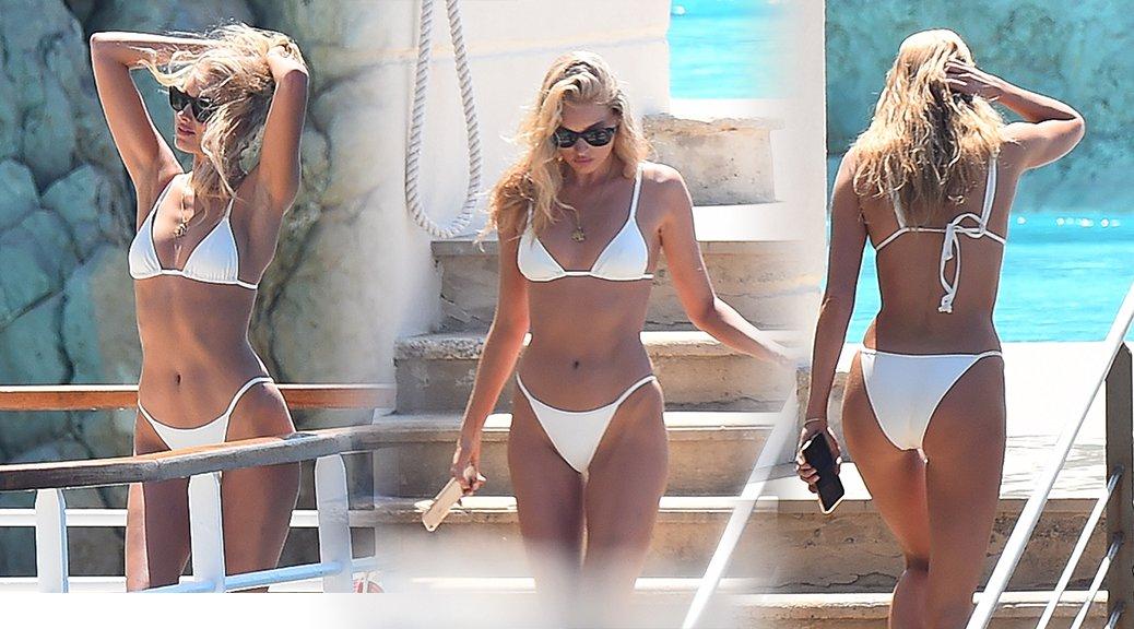 Elsa Hosk - Bikini Candids in Cannes