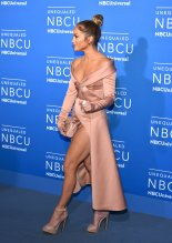 Jennifer Lopez shows great legs at NBCUniversal Upfront in New York City