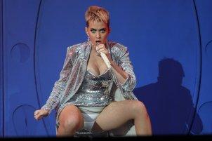 Katy Perry expose panties on stage at Radio 1 Big Weekend in Hull, UK