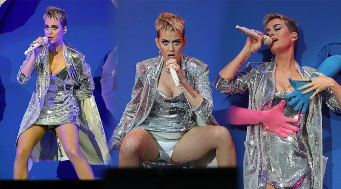 Katy Perry Flashing her knickers, Radio 1 Big Weekend in Hull UK