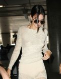 Kendall Jenner braless exposing nipples leaving New York and arriving to Nice France for Cannes festival
