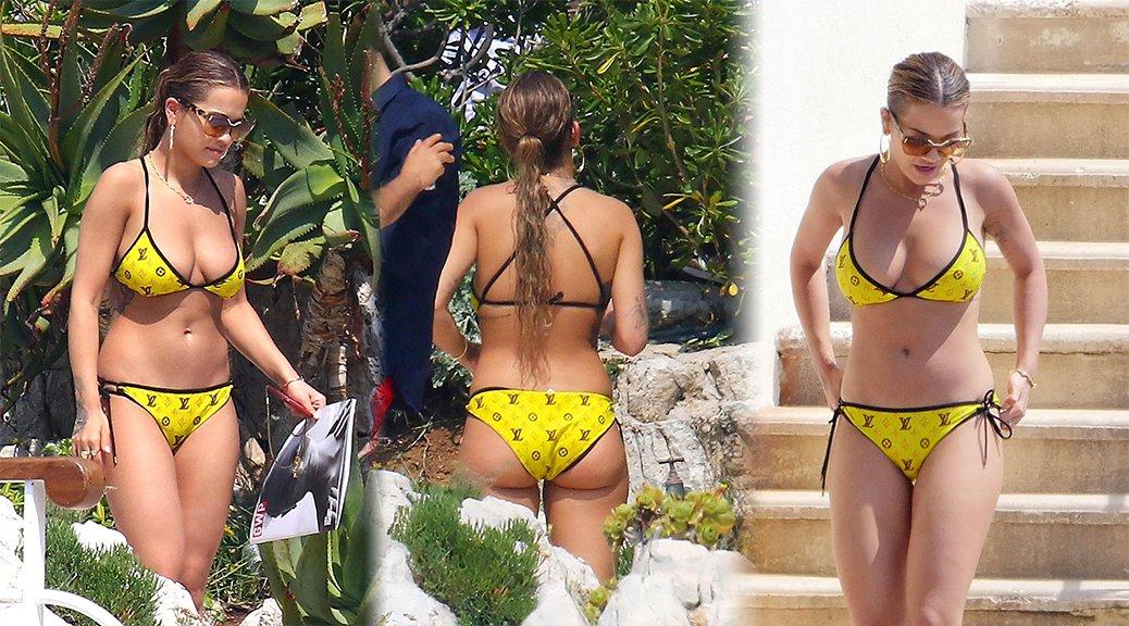 Rita Ora - Bikini Candids in Cannes