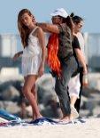 Xenia Deli - Swimsuit photoshoot on a beach in Miami