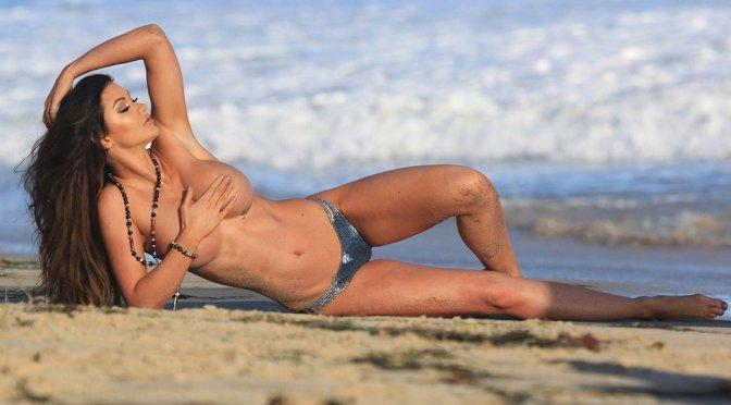 Ashley Youdan – Topless Photoshoot Candids in Malibu (NSFW)