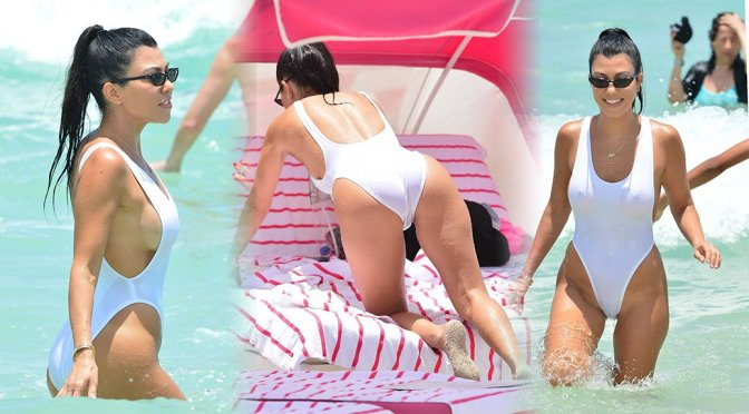 Kourtney Kardashian – Swimsuit Candids in Miami