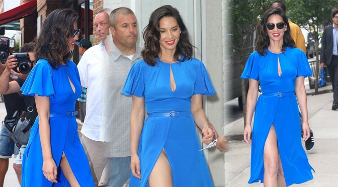 Olivia Munn – Upskirt Candids in New York