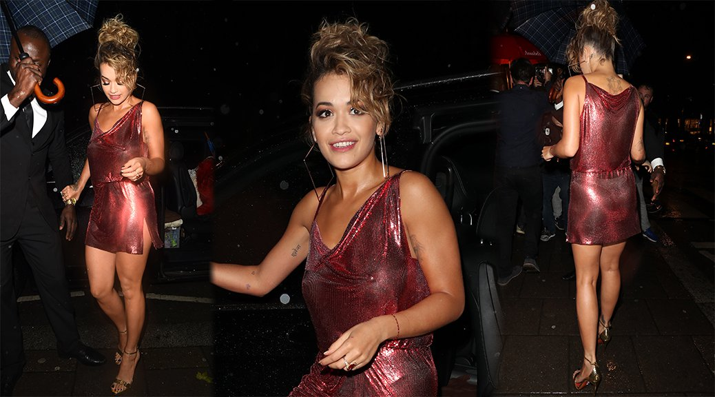 Rita Ora - Braless See-Through Candids in London