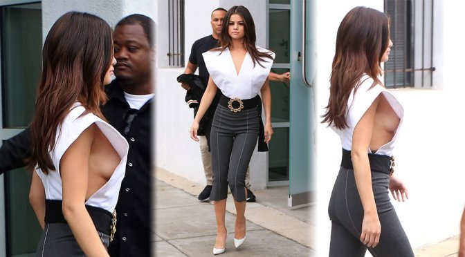 Selena Gomez – Braless Side-Boob Candids in Los Angeles