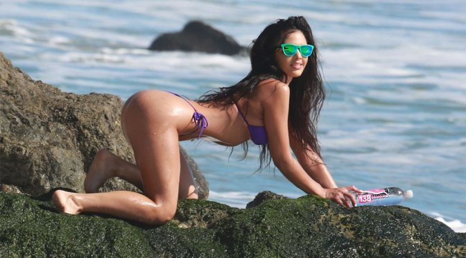 "Val Fit – ""138 Water"" Bikini Photoshoot Candids in Malibu"