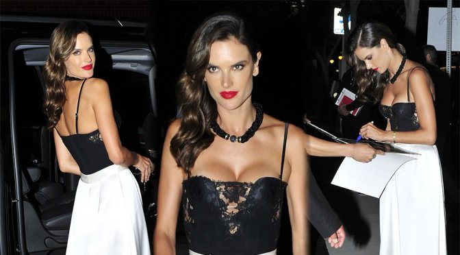 Alessandra Ambrosio – Cleavage Candids in Los Angeles
