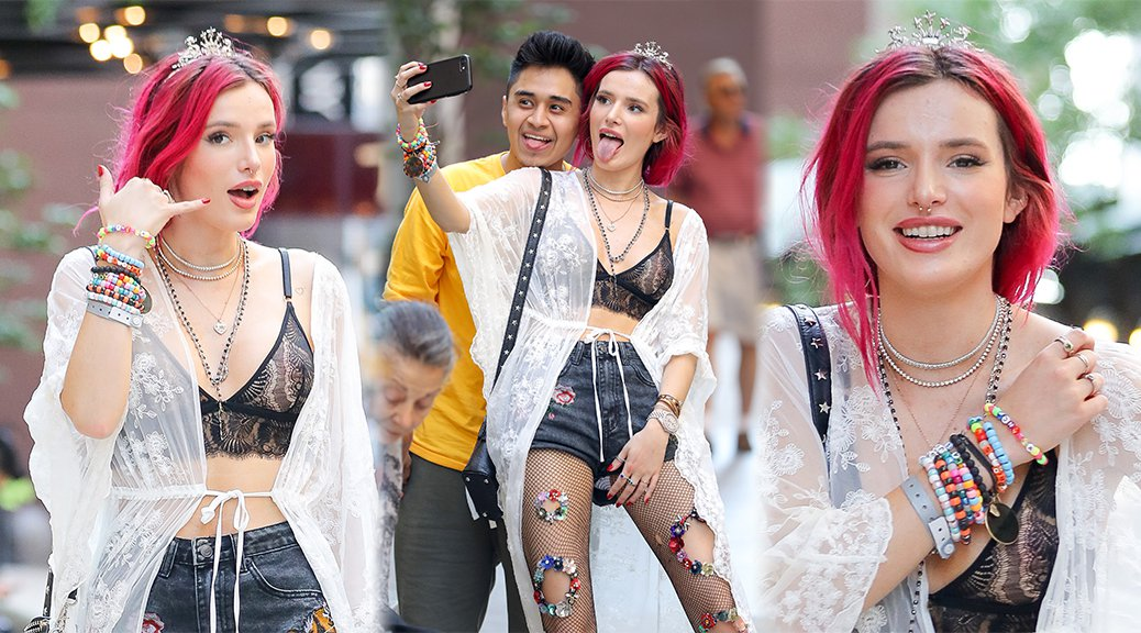 Bella Thorne - See-Through Candids in Manhattan