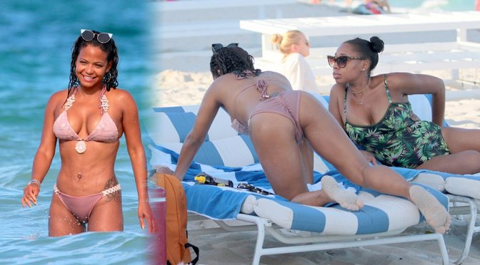 Christina Milian – Bikini Candids in Miami Beach