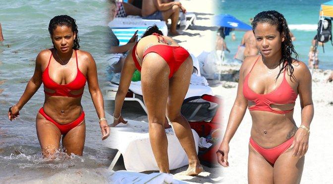 Christina Milian – Bikini Candids in Miami