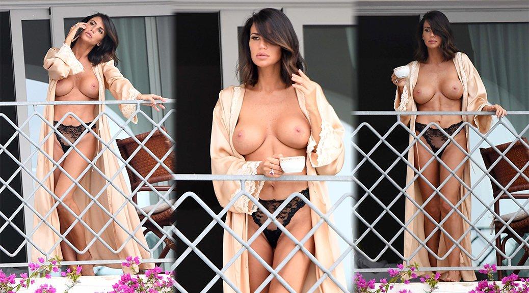 Claudia Galanti - Topless Candids in Porto Cervo
